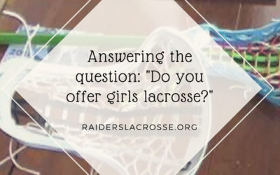 Answering the question: Do you offer girls lacrosse?