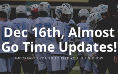 Dec 16th, Almost Go Time Updates!